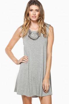 Shift Away Dress in Grey