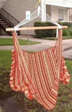 Macrame hammock chair Hammock Chair, Hammock Stand, Diy Chair, Swinging Chair, Macrame Art, Macrame Projects, Rope Crafts, Diy Crafts, Chair Reupholstery