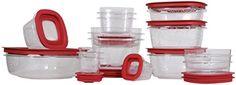 Rubbermaid Premier 28-Piece Food Storage Set, Red, 2015 Amazon Top Rated Food Storage & Organization Sets #Kitchen