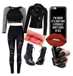 """""""going out"""" by justmekissy on Polyvore featuring WithChic, Superdry, Casetify and Lime Crime"""