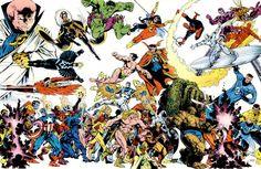 Vintage Michael Golden Marvel Poster
