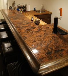 Attrayant Stunning Copper Bar Top Made From Color Copper Sheets.