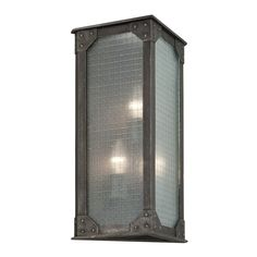 Troy Lighting Hoboken 3 Light Wall Sconce with Frosted Glass Aged Pewter Indoor Lighting Wall Sconces Outdoor Wall Mounted Lighting, Outdoor Wall Lantern, Outdoor Wall Sconce, Wall Sconce Lighting, Outdoor Walls, Outdoor Lighting, Contemporary Wall Sconces, Troy Lighting, Light Bulb Bases