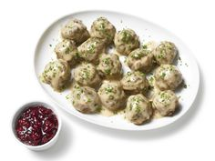 Inspired by Ikea: Almost-Famous Swedish Meatballs : Some people drive for hours to get to an Ikea store, and we know they aren't making the trek just for the $9.99 chairs. They're going for the Swedish meatballs. Ikea is keeping the recipe a secret, so chefs in Food Network Kitchen hit a nearby store for a tasting, then created this spot-on copy.