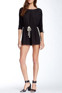 Everleigh | Knit Lace Detail Romper | Nordstrom Rack