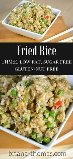 Fried Rice that's trim and healthy!  THM:E, low fat, sugar free, gluten/nut free - PLUS an exciting announcement about a new THM Blogger Test Kitchen unofficial Facebook group!