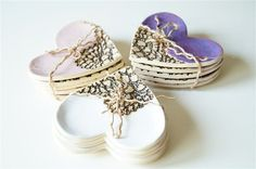 Wedding Favors Ceramic Hearts Ceramic Plates 15 by HerMoments