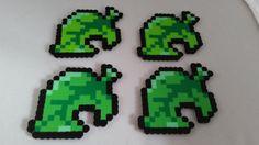 Animal Crossing inspirado hojas set de 4 por BeardedDragonBeads