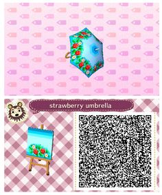 Strawberry Umbrella by Quirkberry - Animal Crossing: New Leaf