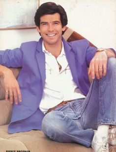 Pierce Brosnan..... he's so young maybe Remington steele era.