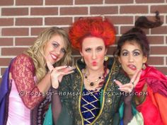 Great Homemade Hocus Pocus Girls Group Costume... This website is the Pinterest of costumes. Of course had to give ourselves the repin :)