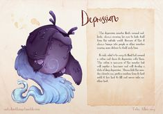 The demons of mental illness illustrated as real monsters -- Toby Allen