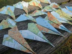 Hey, I found this really awesome Etsy listing at https://www.etsy.com/listing/251358460/20-map-paper-airplanes-escort-cards
