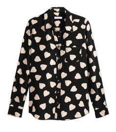 Equipment Brett Heart-Print Silk Shirt