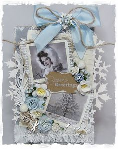 Cards made by Chantal: WLVC #63 Christmas card with Blue!