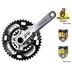 Shimano XT M770 Triple Chainset   Chain Reaction Cycles