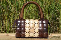 white-brown coconut handbag,Thailand