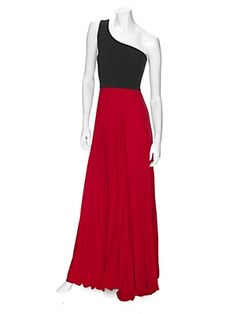Alexis EXCLUSIVE One Shoulder Pleated Maxi Dress