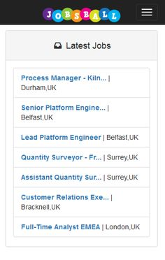 Just some of the latest jobs online and in our app www.jobsball.co.uk