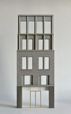 Modern Architecture Design, Brick Architecture, Minimalist Architecture, Facade Design, Interior Architecture, House Design, Interior Design, Architectural Sculpture, Architectural Models