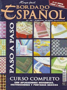 bordado espanhol numero 1 by Carina Nuno - issuu Tambour Embroidery, Sashiko Embroidery, Hand Embroidery Stitches, Embroidery Designs, Book Crafts, Diy And Crafts, Needle Tatting Tutorial, Chicken Scratch Embroidery, Stitch Magazine