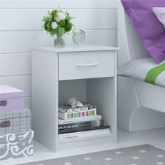 Mainstays Nightstand/End Table, Multiple Finishes - Walmart.com