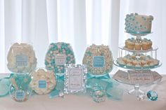 Tiffany Blue Inspired Bridal Shower | ... Customized just for you. Wedding Receptions, Bridal Showers and more