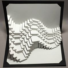 Waves 5 Swoop : kirigami pop-up paper sculpture Origami And Kirigami, Paper Crafts Origami, Folding Architecture, Paper Structure, Pop Up Art, Paper Pop, Paper Engineering, Inspiration Design, Woodworking Patterns