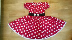 Minnie Mouse dress. Costume dress. Polka dot by ViaFUNICOLARE