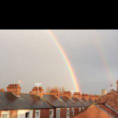 Rainbow over South Bank, York Like A Local, Big Sky, Yorkshire, Opera House, Rainbow, Heart, Building, Travel, Rain Bow