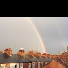 Rainbow over South Bank, York