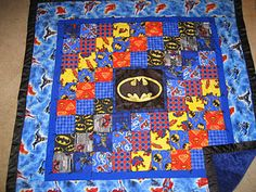 I went a bit themed this year. The boys all got superhero piggy banks, pj& and quilts. They absolutely loved it all though. It took a lo. Crochet For Beginners Blanket, Crochet Blanket Patterns, Quilt Patterns, Crochet 101, Patchwork Blanket, Crochet Blankets, Crochet Ideas, Batman Quilt, Superhero Quilt