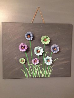 Hand painted pine cones on 16 x 20 painted canvas.