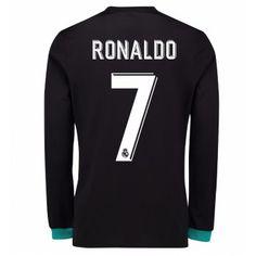Real Madrid Cristiano Ronaldo 7 Bortatröja 17-18 Långärmad  #Billiga #fotbollströjor