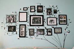 Wonderful way to display family photos
