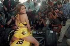 FORMEL 1 GP von SPANIEN 1998 Barcelona 0598 JORDAN GIRL/JORDAN MODEL KATHI PRICE
