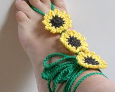 Sunflowers: barefoot sandals by Bennelle, www.bennelle.com