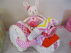 DIY Tricycle Diaper Cake -Twins in the cities
