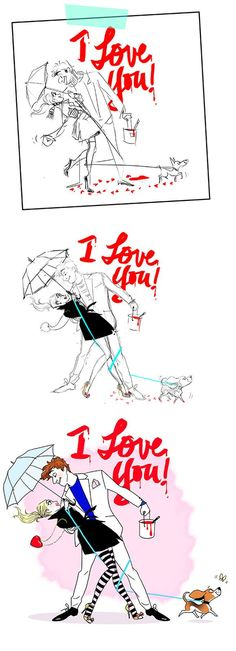 motin - i love you - dessin - amour - couple