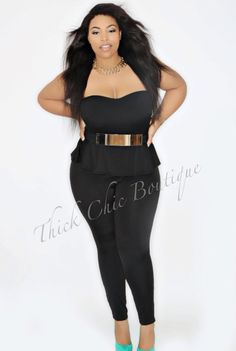 Strapless Peplum Jumper, $38.99 by Thick Chic Boutique