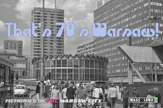 That's 70's Warsaw! Postcard by Wars Sawa Design, Warszawa, Warsaw, Memories of PRL.