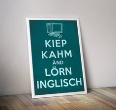 Kiep kahm nd lrn inglisch digital typography poster quot;keep calm quot;keep calm and learn engl kiep kahm nd lrn inglisch digital typography poster Typographic Poster, Typography, Keep Calm, Bob Ross Quotes, Engage In Conversation, Read Magazines, English Sentences, Learning Methods, Learn English