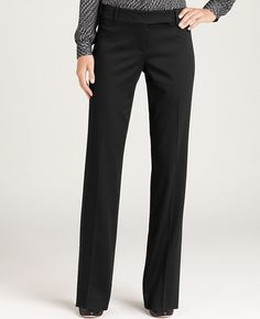 Petite Modern Wool Sateen Stove Pipe Pants