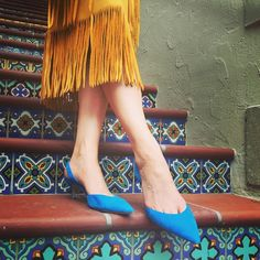 Wearing @pandrewdesign shoes today with a fringey 70s skirt  can't wait till you're here Friday!!