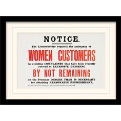 """Art Group IWM """"Women Customers"""" Framed Art & Reviews   WF"""
