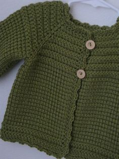 Leaf Green Crochet Baby Girl Sweater MADE TO by ForBabyCreations