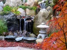 Image result for small waterfall for japanese garden