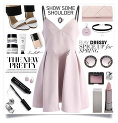 """gentle look"" by margomusey ❤ liked on Polyvore featuring Chicwish, Michael Kors, Lipstick Queen, Bobbi Brown Cosmetics, Chanel, Gucci and NARS Cosmetics"