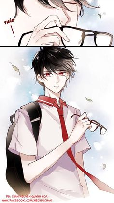 This is an anime high school hottie((BTW, He looks like a super cute vampire! Boys Anime, Cute Anime Boy, Manga Boy, Anime Love, Manga Anime, Anime Art, Anime Glasses Boy, Anime High School, Image Manga