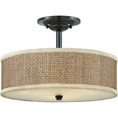 "View the Quoizel ZE1717 Zen 3 Light 17"" Wide Semi-Flush Ceiling Fixture at LightingDirect.com."
